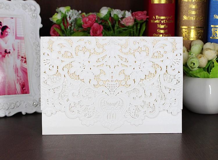 laser cut de boda tarjeta de invitacin de boda con flores en relieve invitacin de