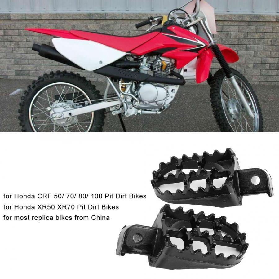 Honda XR 50 70 80 100 Kawasaki KLR 650 Black Foot Pegs