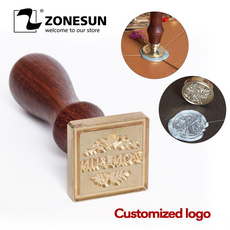 ZONESUN специальная печать штамп с деревянной ручкой для упаковки подарков конвертов посылок DIY свадебных приглашений|Штамповка| | АлиЭкспресс