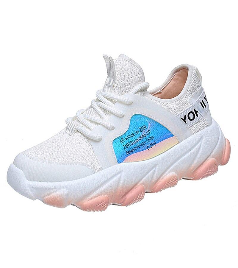 Platform sneakers women white Breathable Mesh casual shoes female new Summer Flat Women Vulcanize Shoes tenis feminino VT249 (8)