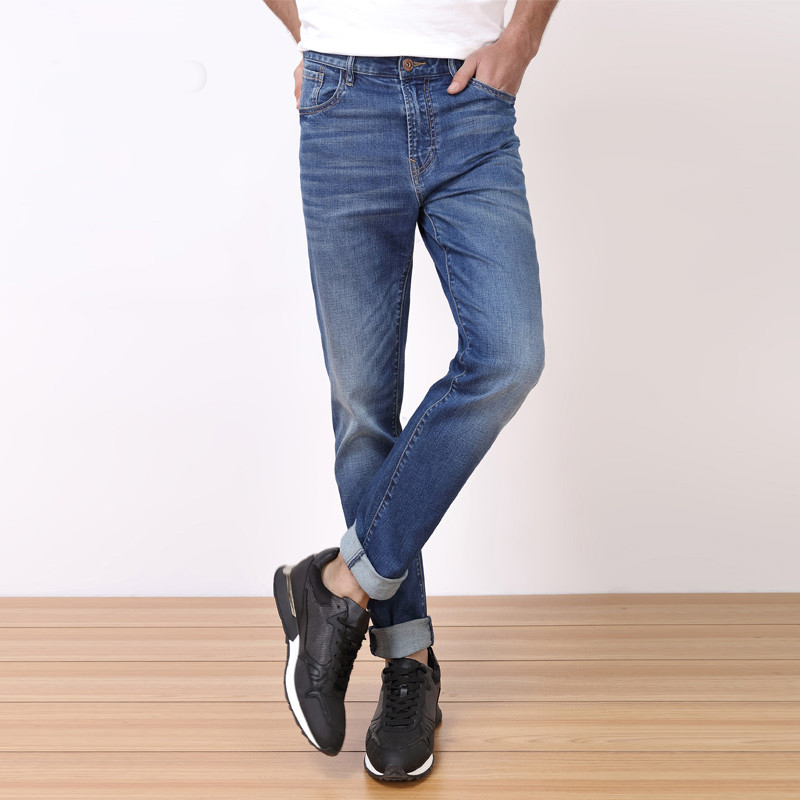 Men Jeans Casual Denim Pants Classic Straight Jeans Masculina Male Denim Trousers Cotton floersa men jeans selvedge vintage style denim jeans men brand denim trousers cotton casual straight mid waist pants 057 39