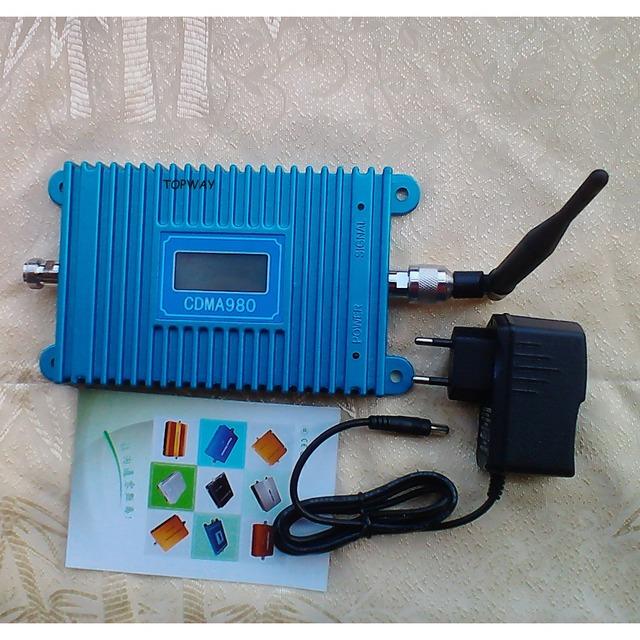 Lcd CDMA980 Signal booster + antena indoor! Celular CDMA repetidor de sinal, Móvel CDMA 850 MHZ repetidor de sinal amplificador