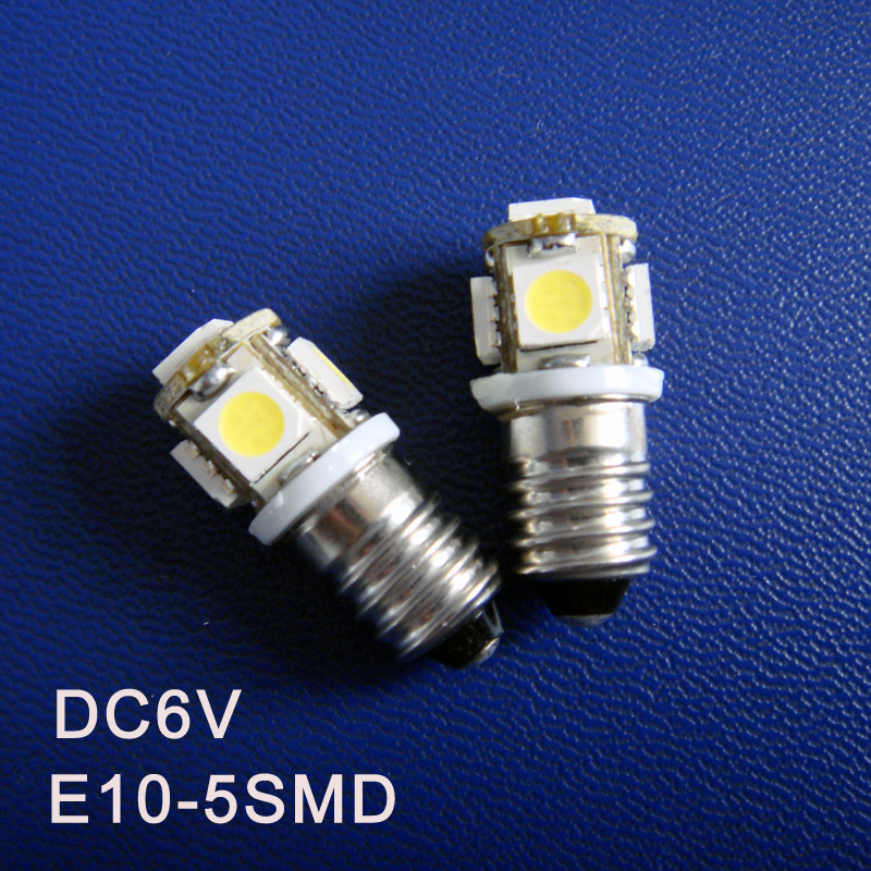 High quality D6.3V 6V E10 Led Light Bulbs,Warning Signal,Pilot Lamps,Indicator Lights,Instrument Lamps free shipping 100pcs/lot