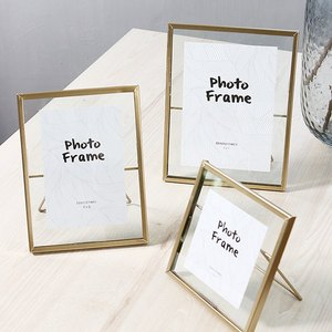 Image 1 - Nordic Geometric Metal Glass Photo Frame Creative Wall Decoration Photo Decorative Picture Frame 4 6 7 Inch