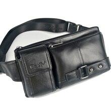 Nouvelle mode en cuir véritable sacs vache petite taille sacs pour hommes homme ceinture portefeuilles hommes épaule sac poitrine sac