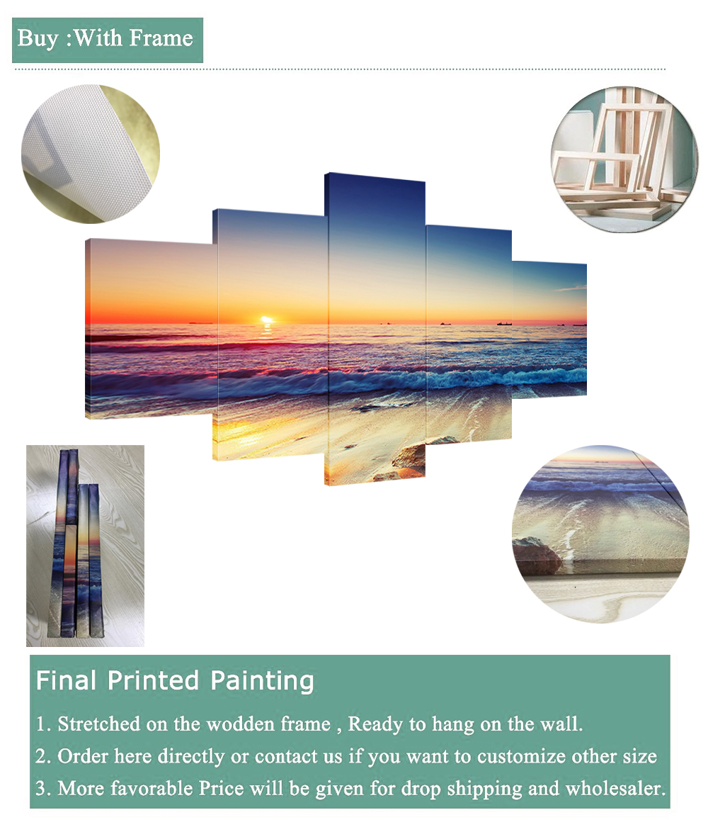 HTB1N3V5WcfpK1RjSZFOq6y6nFXas Canvas HD Prints Paintings Wall Art Home Decor 5 Pieces Welcome Dropshipping Wholesale We Can Provide All The Pictures