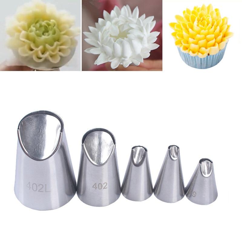 5pcs Chrysanthemum Stainless Steel Nozzles …