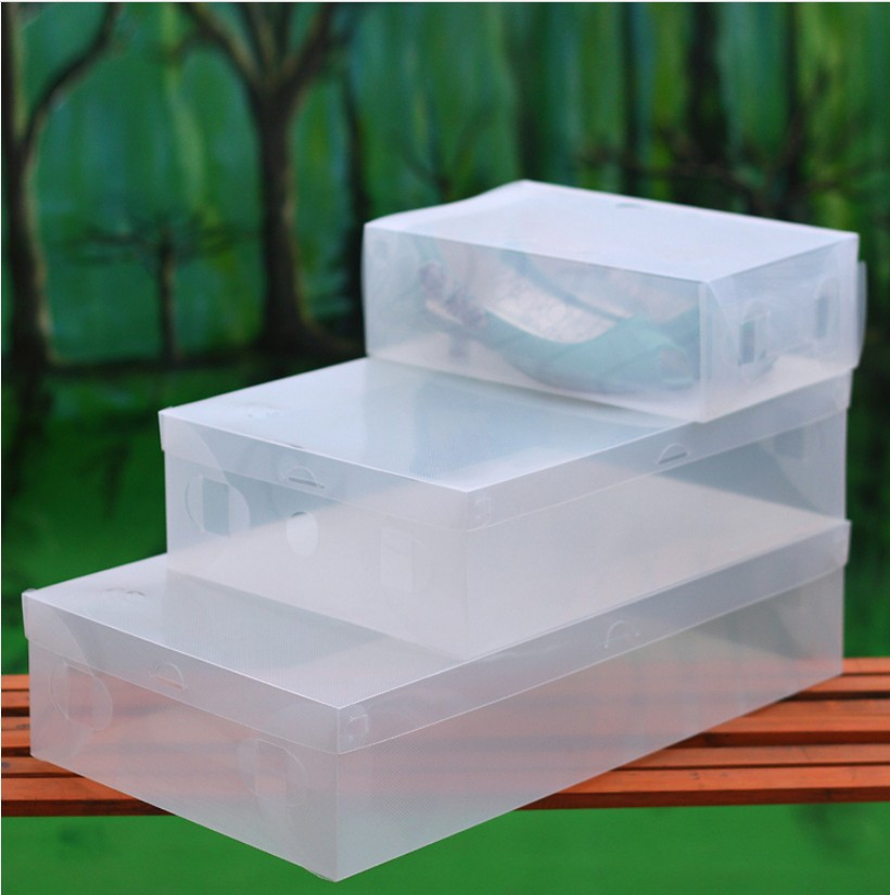 Free Shipping Transparent Plastic Shoes Boxes Clear PP Shoes Storage Boxes Foldable Plastic Woman Boots Boxes Bins Makeup Boxes-in Storage Boxes u0026 Bins from ... & Free Shipping Transparent Plastic Shoes Boxes Clear PP Shoes Storage ...