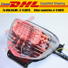 motorcycle partsLED Tail Brake Light Turn Signals for GSXR 600 GSX-R600 750 1000 clear