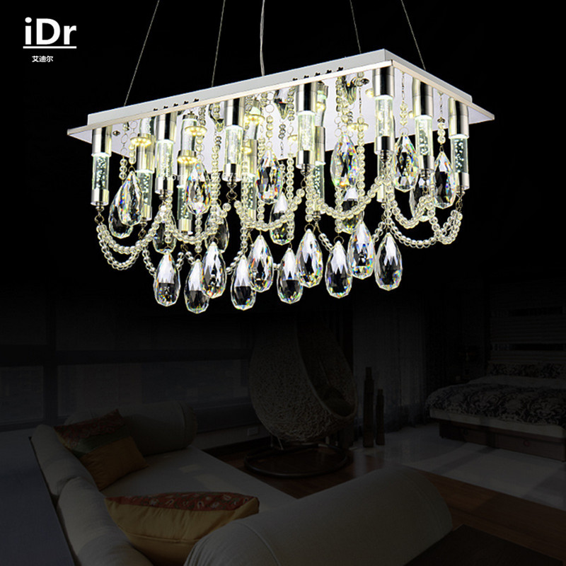 Contemporary Rectangular LED lights manufacturers wholesale modern crystal lamps dining restaurant chandelier Luxury lamp