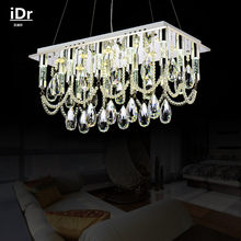 Contemporary Rectangular LED lights manufacturers wholesale modern crystal lamps dining restaurant chandelier Luxury lamp(China)