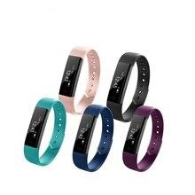 Оригинальный популярный ID115 Smart Band Bluetooth Браслет Шагомер фитнес-трекер смотреть дистанционного Камера браслет для iOS и Android