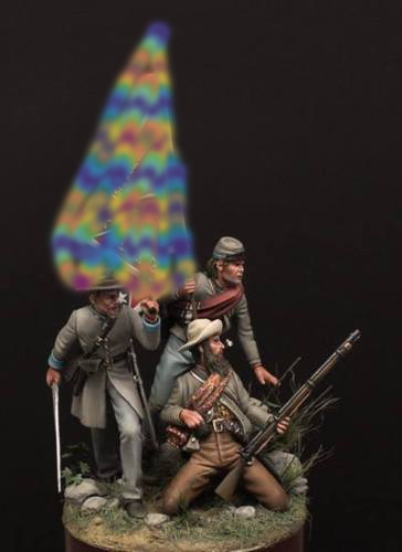 1/32 54MM Alabama Soldiers Include 3 Men 54mm    Toy Resin Model Miniature Resin Figure Unassembly Unpainted