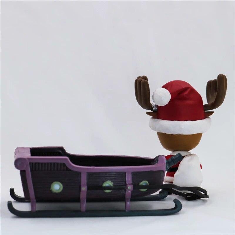 New Christmas One Piece Chopper Action Figure Toys Kawaii Anime Xmas Sled Chopper Figuras Dolls Brinquedos Gift 10cm  (10)