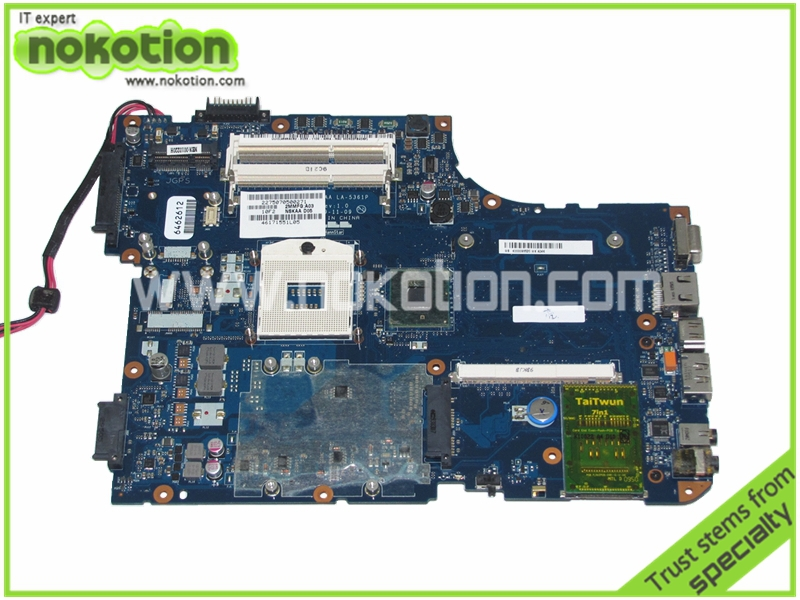 NOKOTION NSKAA LA-5361P K000093520 for Toshiba A500 Series Laptop Motherboard intel HM55 with graphics slot Mainboard