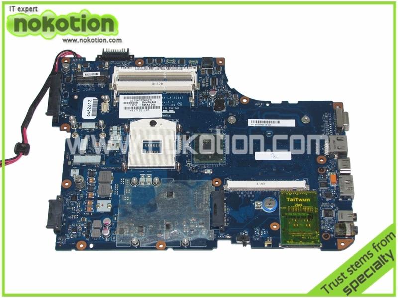 все цены на  NSKAA LA-5361P K000093520 for Toshiba A500 Series Laptop Motherboard intel HM55 with graphics slot Mainboard warranty 60 days  онлайн