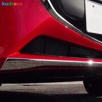 For Mazda 2 Demio DJ 2014 2018 Hatchback chrome ABS Front Bumper Protector Guard Strip Crash Bar Protection Car Accessories