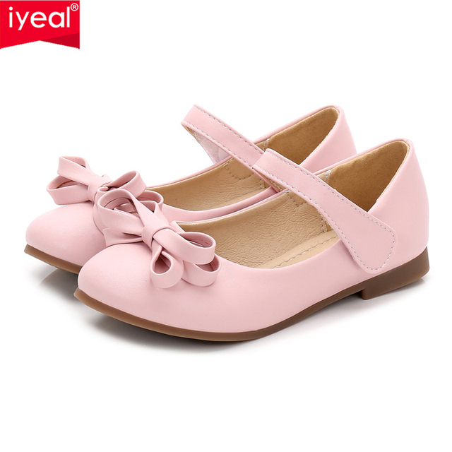 IYEAL Girls Leather Shoes For Party Children Shoes Girls Wedding Princess  Dance Bow Tie Children s Footwear for Kids Baby Girl 055ef43e9a9c