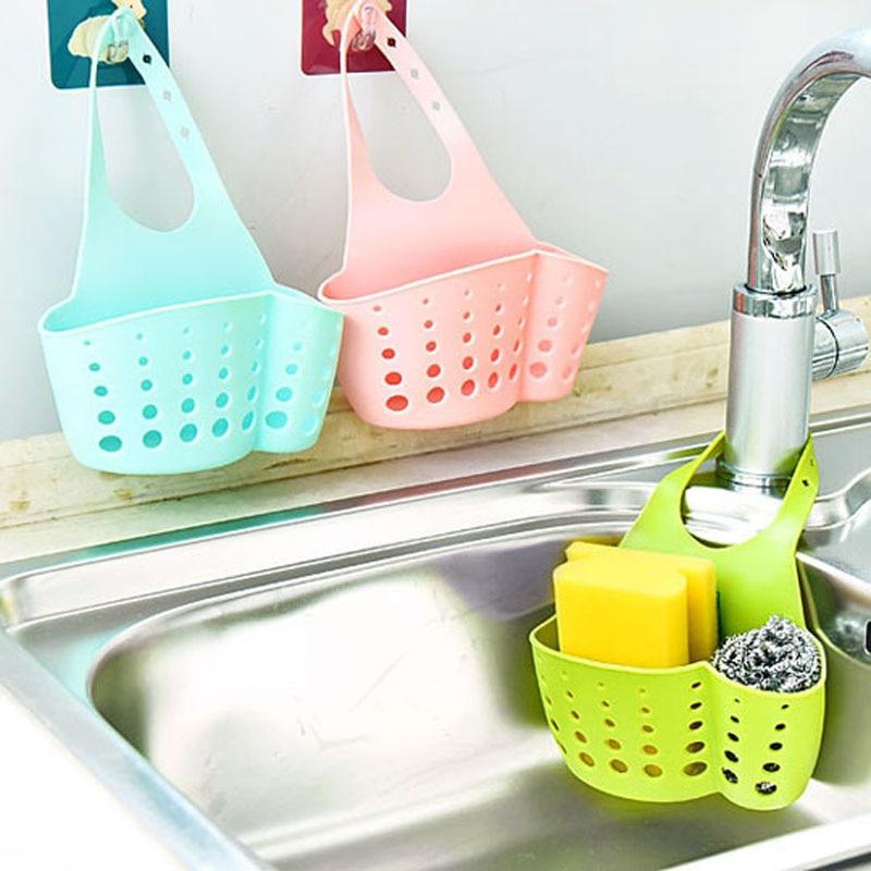 1pcs Kitchen Portable Hanging Drain Bag Basket Bath Water Faucet Storage Gadget Tools Sink Holder Kitchen Accessories