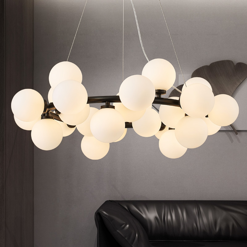 Magic Bean Pendant Lamp Modern LED Pendant Lights fisture For Living Room Dining Room G4 Gold /Black Light Body White Glass Pend modern guard dining room pendant lights white black golden silver lamp
