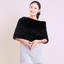 High Quality Knitted Mink Fur Oversized Muffler Scarf Women's Winter Thermal Pullover Fashion Muffler Scarf