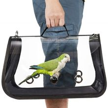 Portador de viaje para pájaros, jaula de transporte para pájaros, mochila para salir para loros transpirable