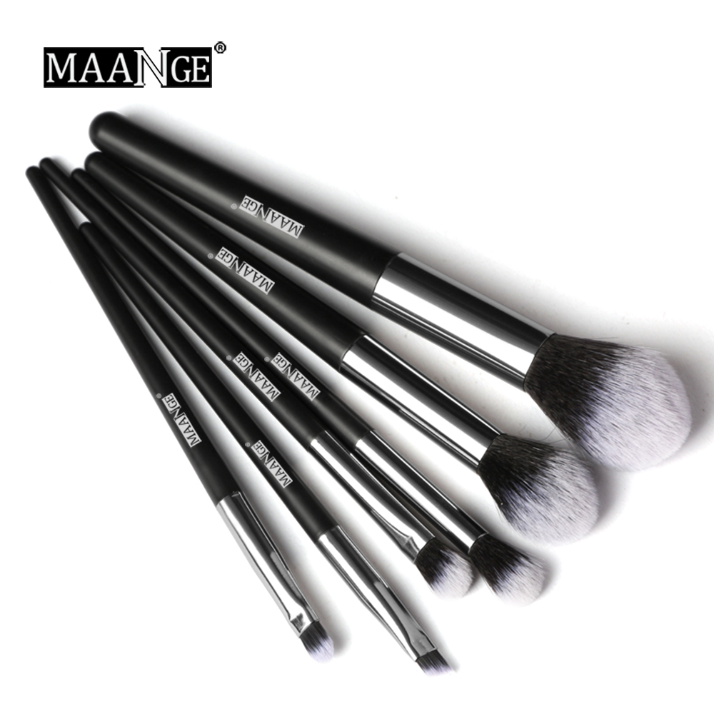 MAANGE New 6Pcs Make Up Brushes Professional Foundation Powder Eye Shadow Blending Brush Pincel Maquiagem Makeup Brush Set Kit
