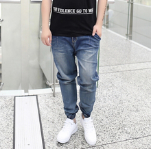 купить Fashion Men Elastic Harem Jeans Tapered Baggy Pants Drop Crotch Jeans Hip-hop Pants   по цене 2760.91 рублей