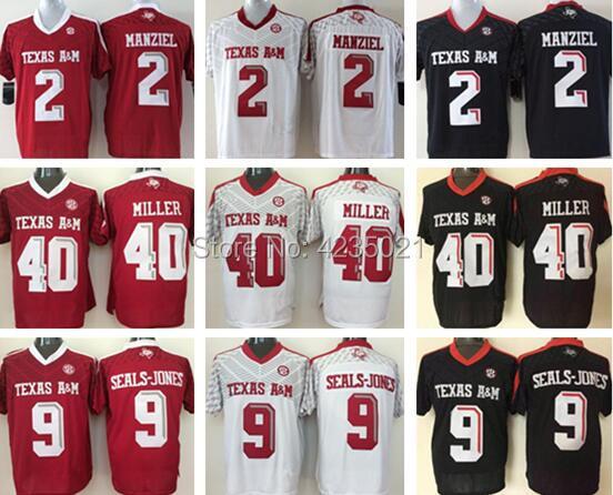 Stitched College VON MILLER 40 Johnny Manziel 2 Ricky Seals Jones 9 Football Jersey jerseys NEW ...