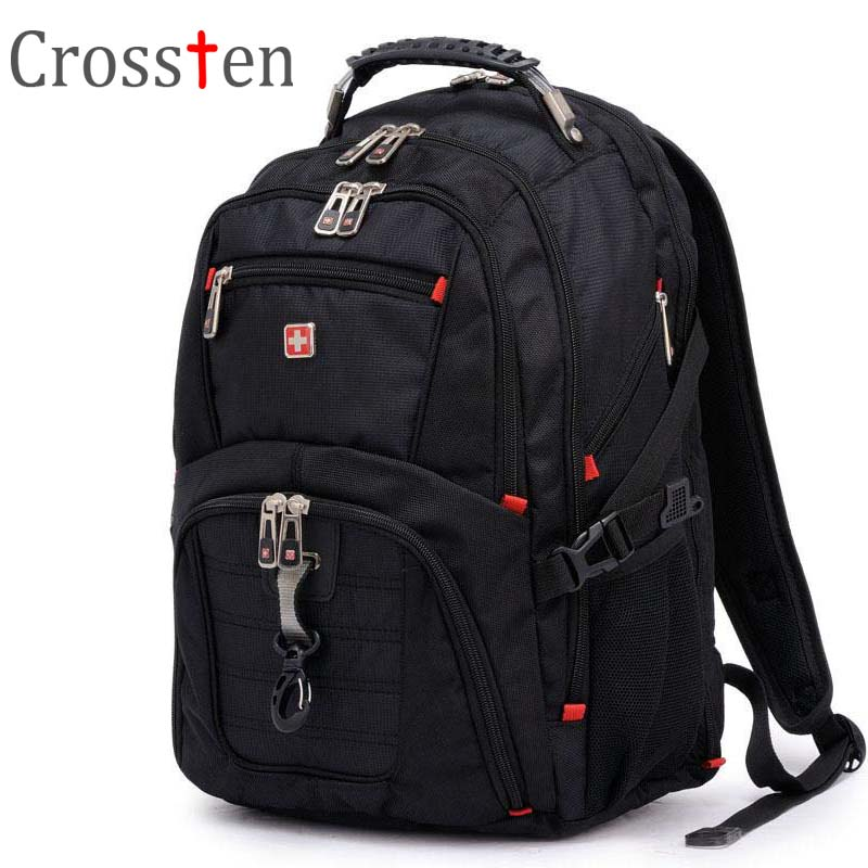 Crossten Top quality Multifunctional Swiss Laptop Backpack for 15 6 inch laptop Versatile Schoolbag Travel Bags