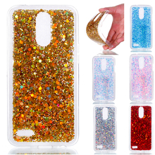 Fashion Bling Shining Powder Sequins Case For LG K10 2017 M250 X400 M250N Silicone Glitter Back Cover For LG K10 2017 Phone Case смартфон lg k10 2017 m250 gold