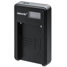 SEIWEI NPFM50 USB Batterie Chargeur avec Écran LCD pour Sony NP-FM50/70/90/QM71D/91D NP-FM500H/FM55H NP-F550/F750/F960/F970 caméra