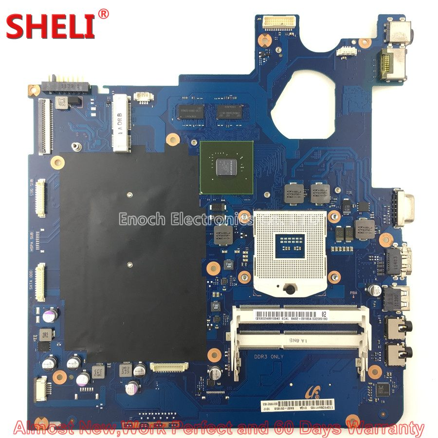 цена SHELI BA92-09185A BA92-09185B Laptop Motherboard For Samsung NP300E5A 300E5A BA41-01763A HM65 GT 520MX Main Board System Board