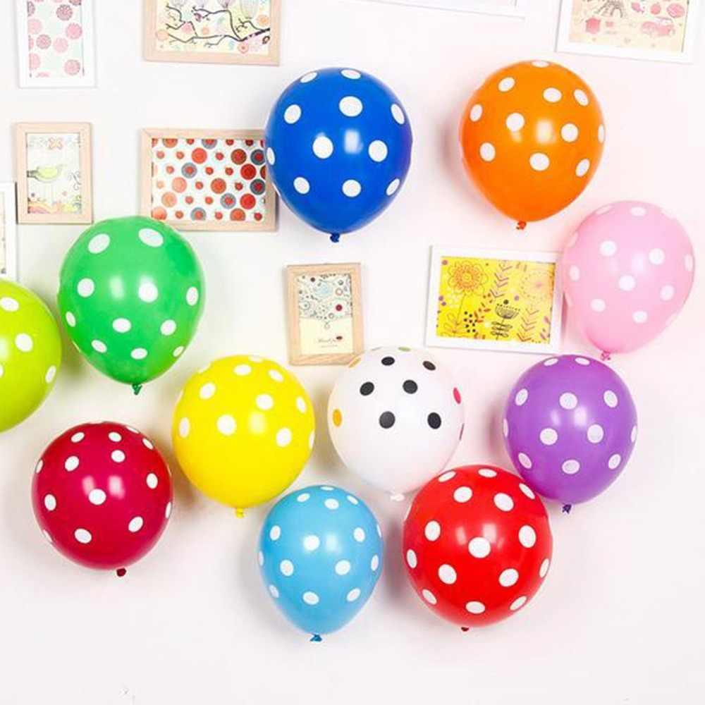 Polegada 10 12 pcs preto Vermelho joaninha ponto polka dot balões de látex balões de festa mickey mouse theme birthday party decor fornecimento globos