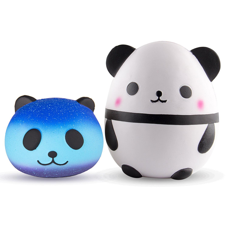 Jumbo Squishy Toy, Jumbo Cute Panda Egg with Star Panda Head Cream Scented Easter Squishy Very Slow Rising Kids Toys