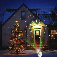 Tanbaby Outdoor Shower Laser Christmas Light 9 Shapes Waterproof Star Sparkling For Holiday Parties Landscape Garden
