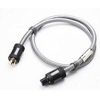 MPSource Tena-AC Hallo ende 99.99997% OCC 24 Karat Vergoldet 3Pin Netzkabel Kabel lautsprecher audio DVD CD verstärker AC Power kabel