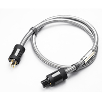 MPSource Tena AC Hi end 99.99997% OCC 24K Gold Plated 3Pin Power Cord Cable speaker audio DVD CD amplifier AC Power cable