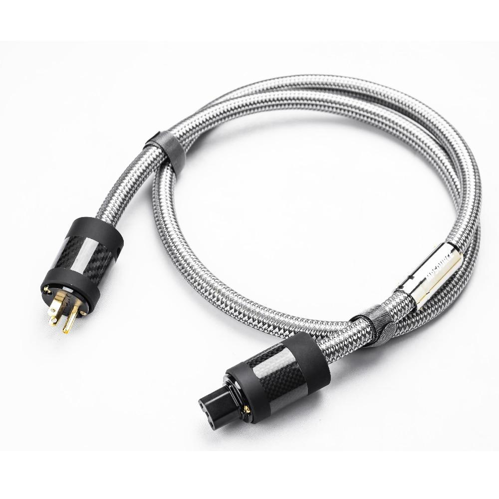 MPSource tena-ac salut fin 99.99997% OCC 24 K plaqué or 3Pin cordon d'alimentation câble haut-parleur audio DVD CD amplificateur AC câble d'alimentation