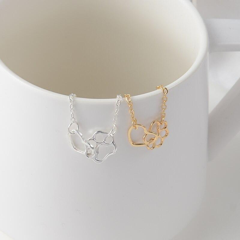QIHE JEWELRY Paw Dog Cat Print and Heart Charm Bracelet Tiny Minimal Bracelet Dog lover Cat Lover jewlry Dainty Pulsera
