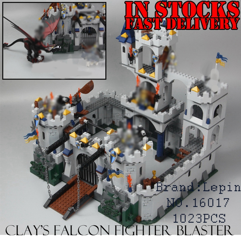 Lepin Genuine 16017 Castle Series The King`s Castle Siege Set Children Building Blocks Bricks Educational Toys Model Gifts 7094 keys to the castle