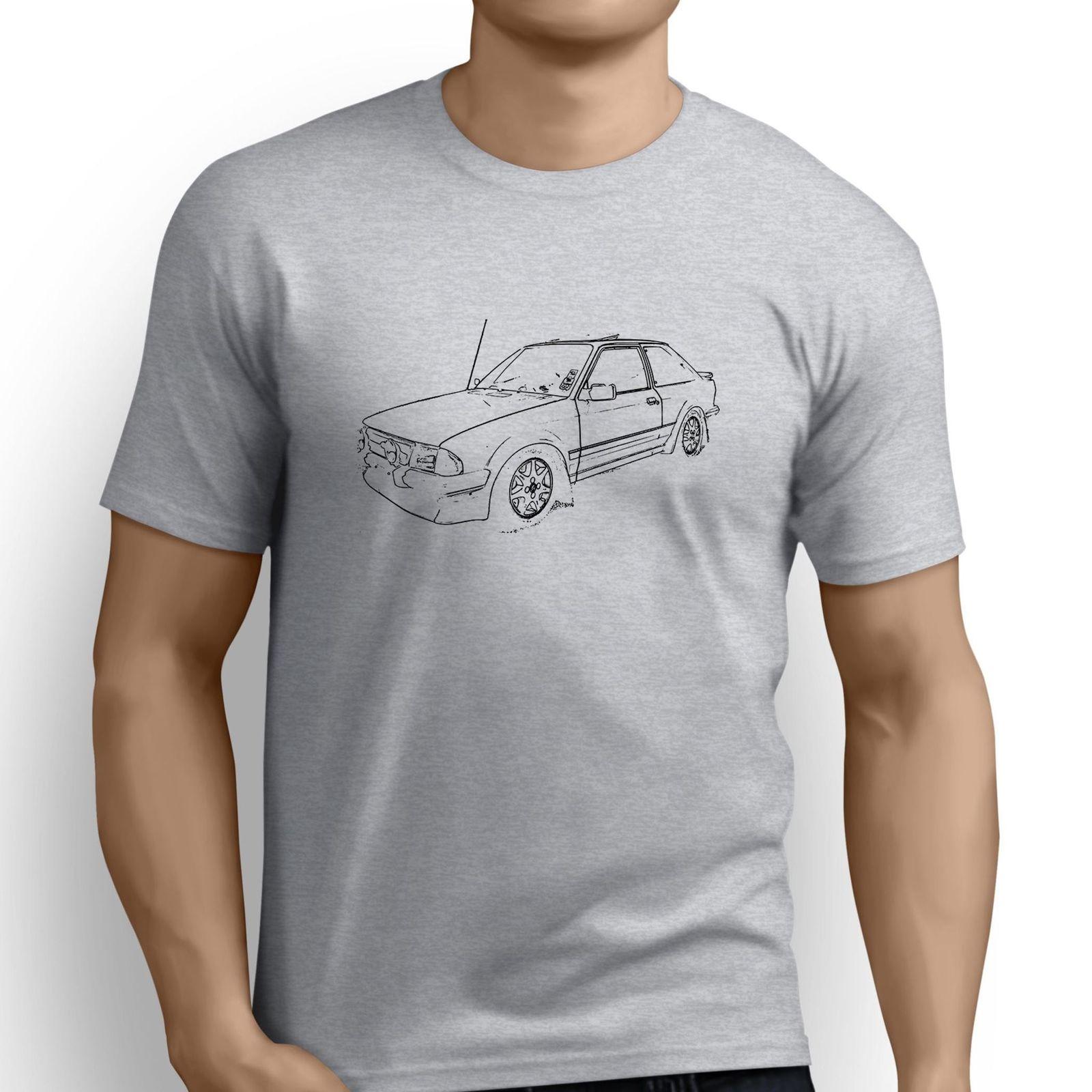 2018 New Fashion Brand Print T-Shirt Male Brand American Car Fans Escort Rs Turbo Inspiredsilk Screen T Shirts