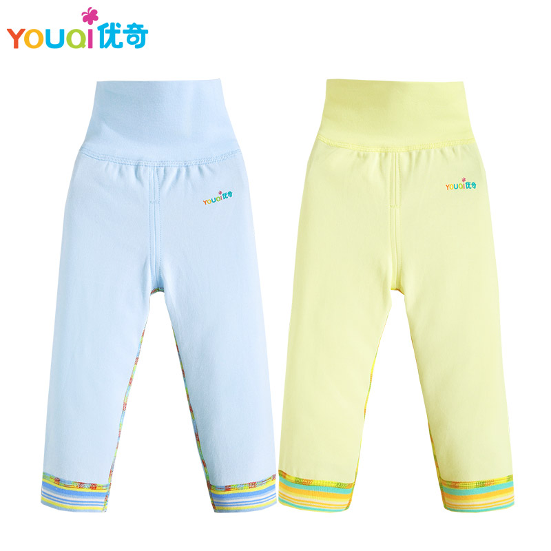 YOUQI 2Pcs/Lot Baby Pants Cute Cartoon Bear Baby Boy Girl Leggings High Waist Toddler Infants Trousers Brand Cotton Baby Pants