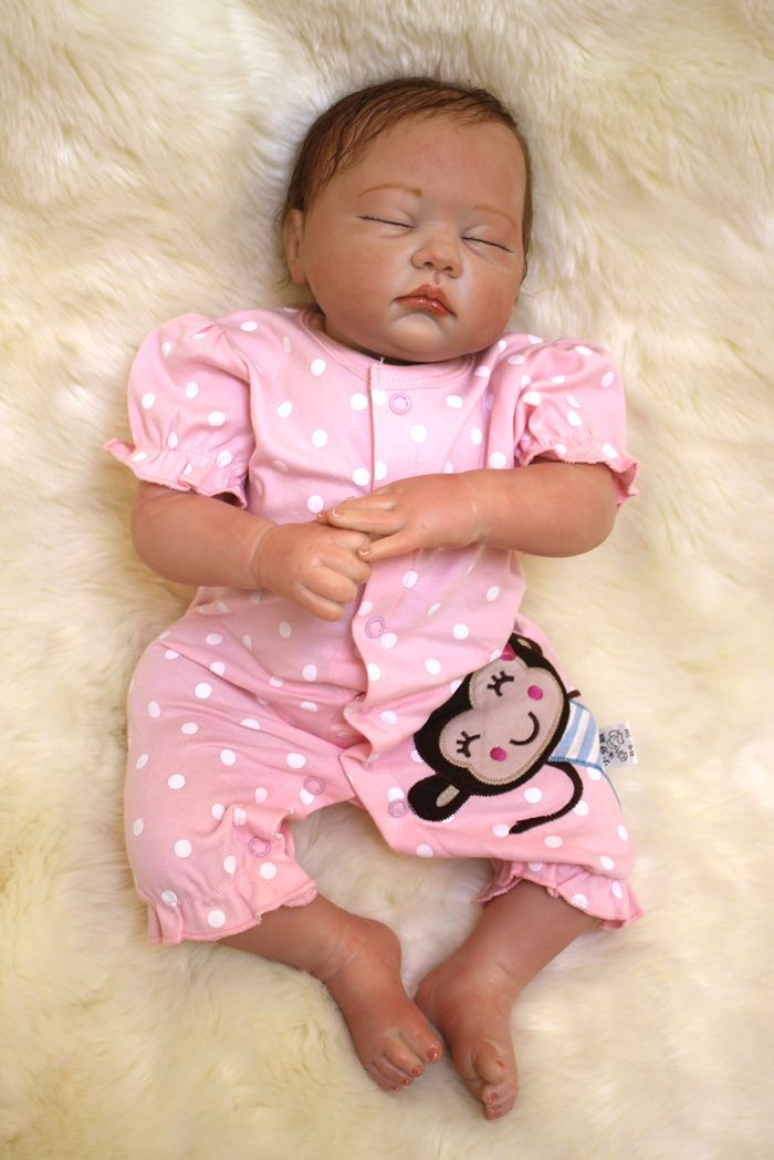 wholesale Real Lifelike Reborn Baby Doll 20 Inch Sleeping Princess Girl Babies Silicone Newborn Toy Kids Playmate bebe new