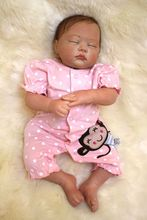 wholesale Real Lifelike Reborn Baby Doll 20 Inch Sleeping Princess Girl Babies Silicone Newborn Doll Toy Kids Playmate bebe new