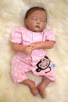 wholesale Real Lifelike Reborn Baby Doll 20 Inch Sleeping Princess Girl Babies Silicone Newborn Doll Toy Kids Playmate bebe new