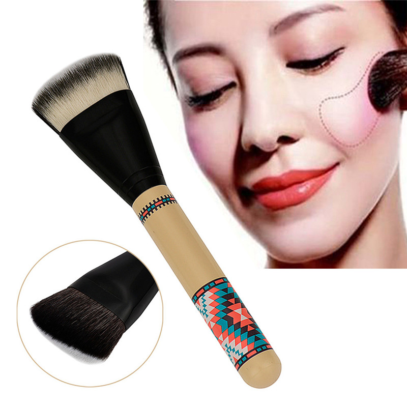 Professional Double Sided Hair Dispersion Powder Blush Makeup Brushes Foundation Blending Brush Cosmetic Tool