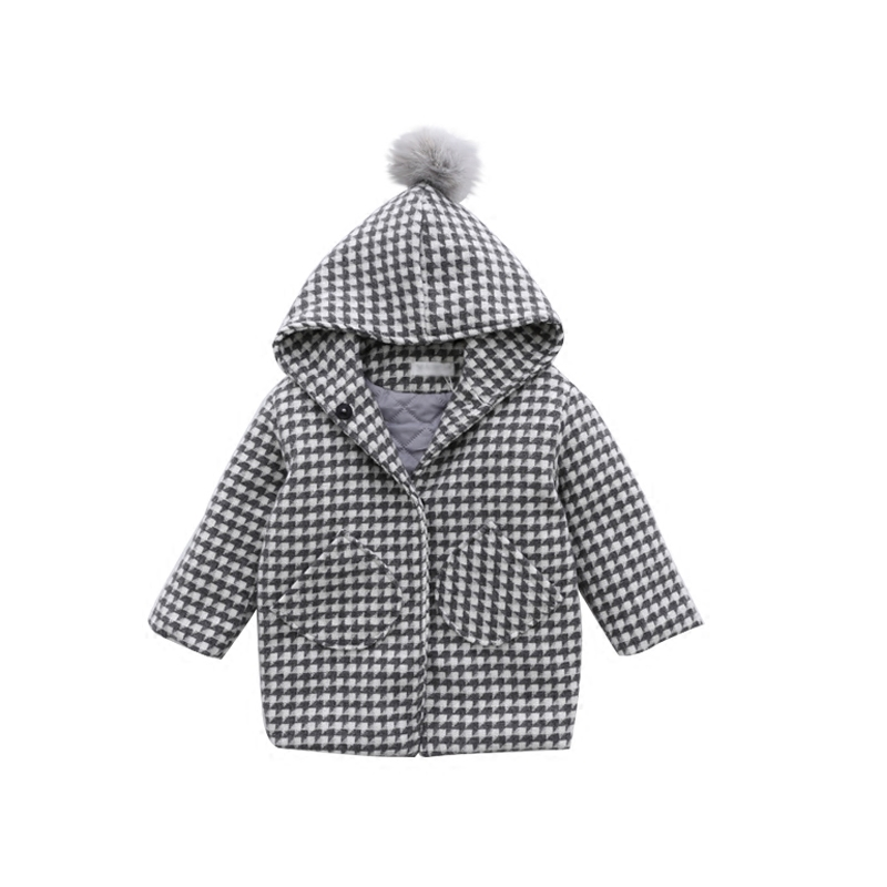 Children Hooded Plaid Jacket Boys Girls Padded Winter Children Windbreaker 2018 New Baby Cotton Hooded Children's Clothing 2-10T winter chinese style retro frog contrast color frog and print jacket coat cotton padded jacket windbreaker
