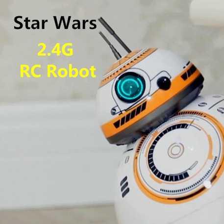 Звездные войны, радиоуправляемый робот, BB-8, Звездные войны, 2,4G, пульт дистанционного управления, BB8, робот, умный маленький шар, фигурка, игрушки, лучший подарок, бесплатная доставка