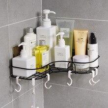 Creative Installation of Seamless Adhesive for Bathroom Corner Rack  bathroom shelf accessories corner